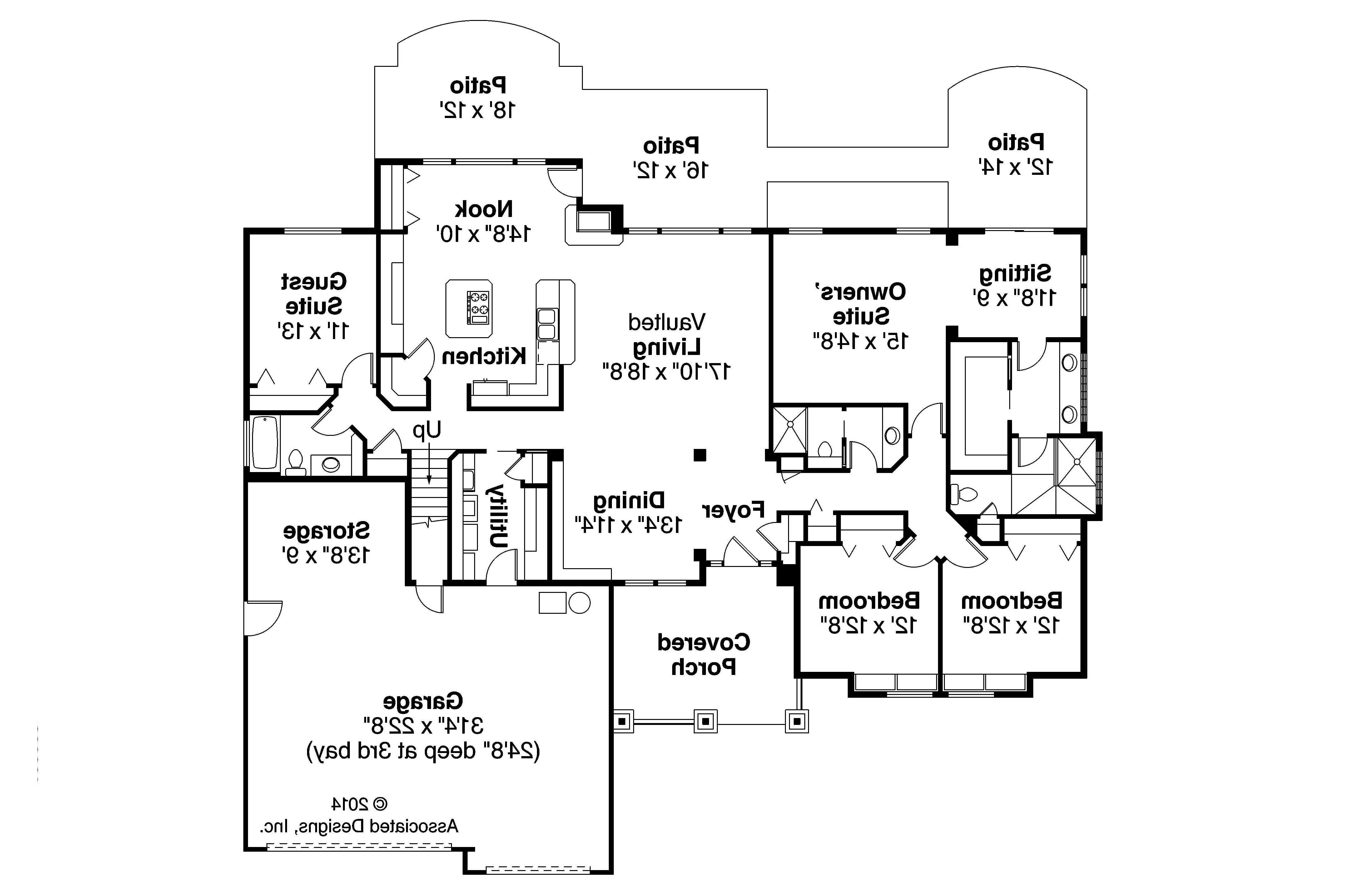 Craftsman house plans pinedale 30 228 associated designs for Craftsman home designs floor plans