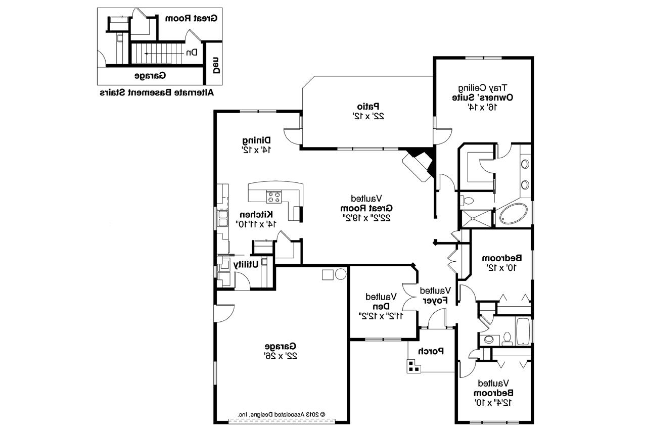Best of 29 images craftsman style open floor plans home for Craftsman floor plans