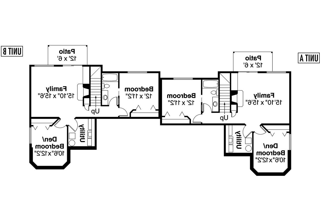 Country house plans krammer 60 022 associated designs for Up down duplex floor plans