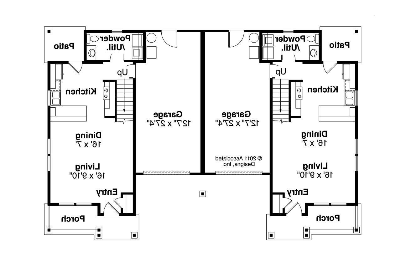 Awesome Duplex Plans For Seniors #1: ... Duplex Plan - Philipsburg 60-030 - 1st Floor Plan