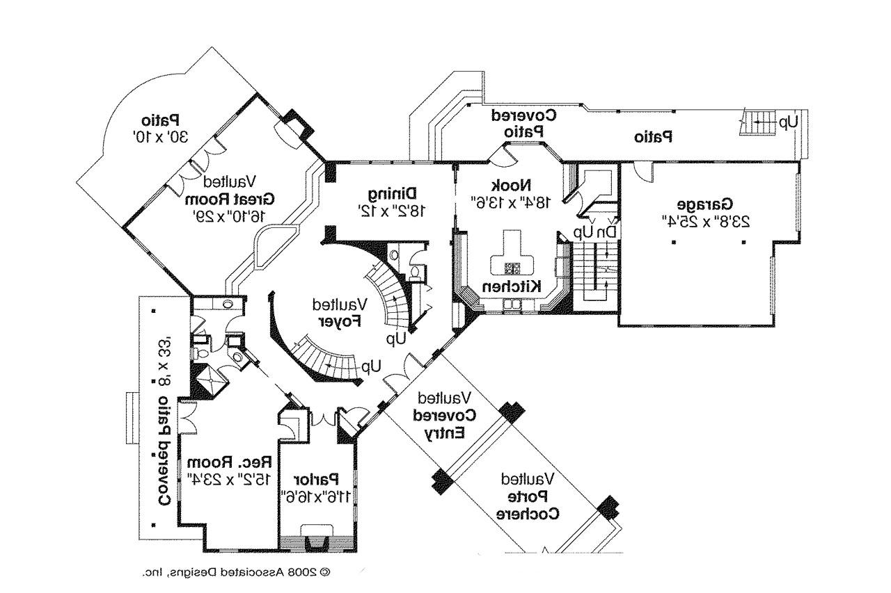 Lodge style house plans bentonville 30 275 associated for Lodge style floor plans