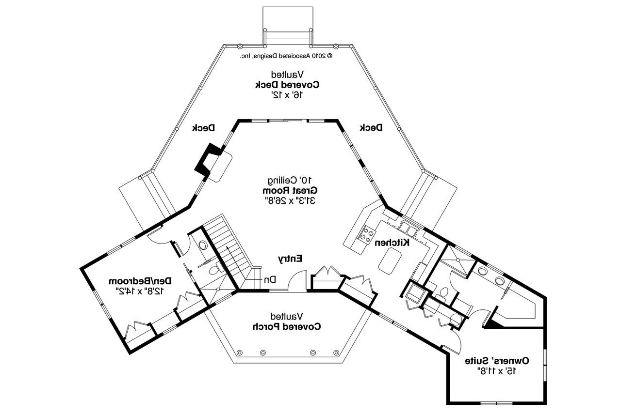 Lodge style house plans greenview 70 004 associated for Lodge floor plans