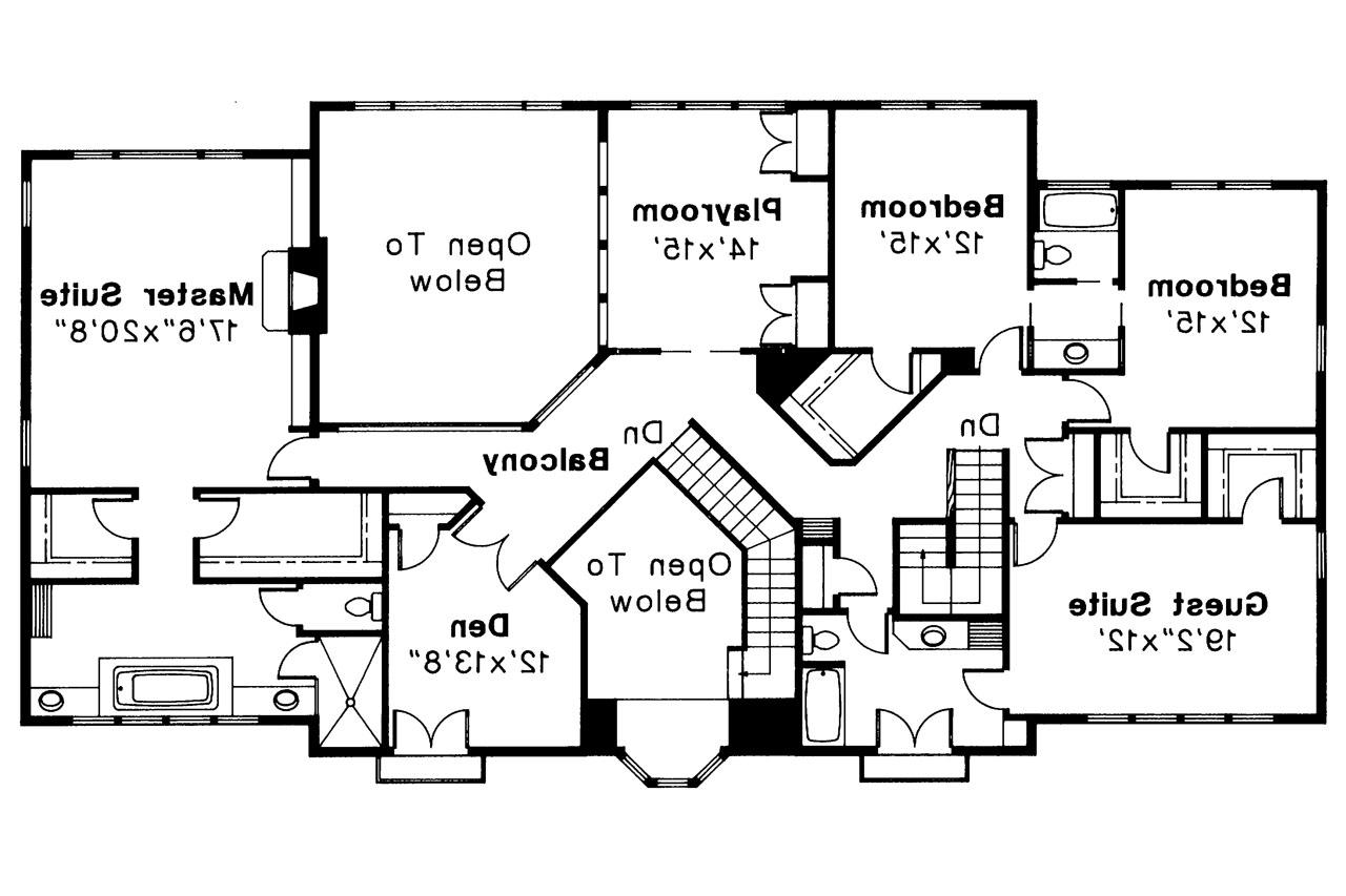 Mediterranean house plans moderna 30 069 associated for 2nd story floor plans