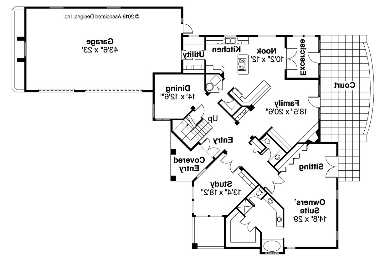 Mediterranean House Plans floor plans for these mediterranean house plans Mediterranean House Plan Pasadena 11 140 First Floor Plan