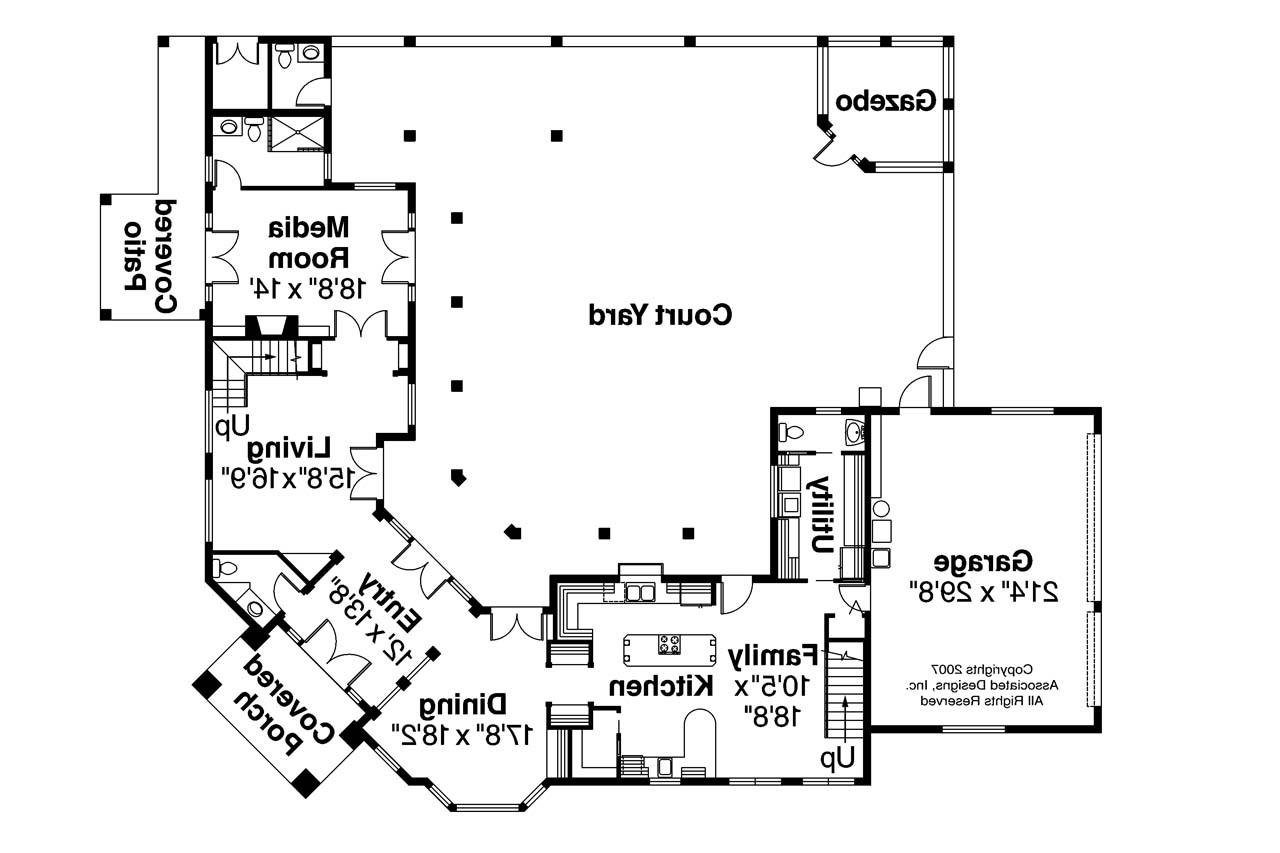 Mediterranean house plans veracruz 11 118 associated for Mediterranean mansion floor plans