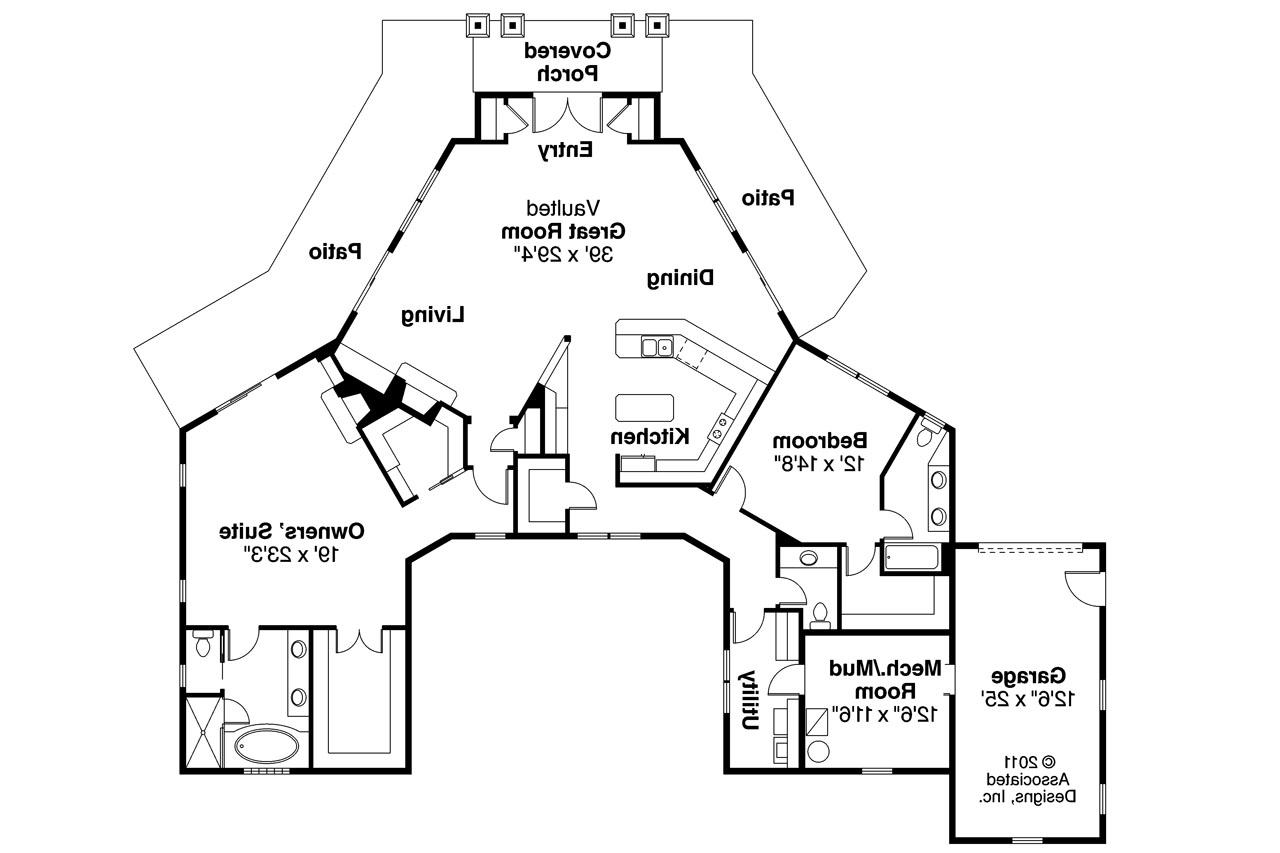 Prairie style house plans baltimore 10 554 associated for Prairie home floor plans