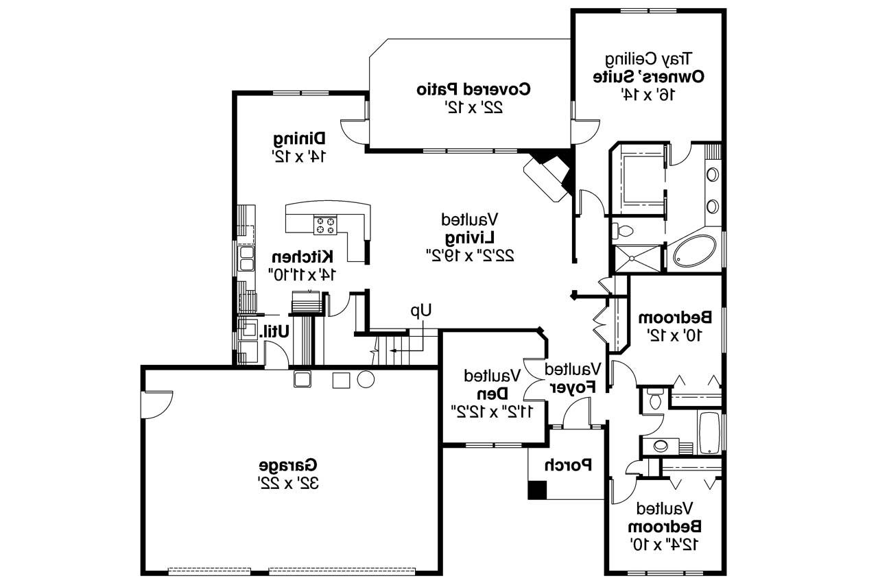 Nice Prairie Home Floor Plans #5: ... Prairie Style House Plan - Cheyenne 30-643 - Floor Plan