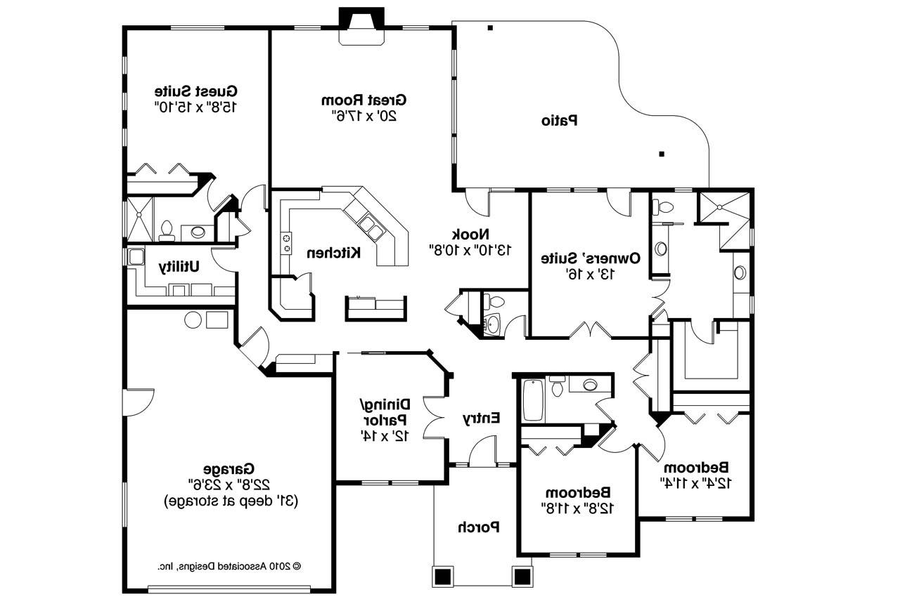 Prairie style house plans crownpoint 30 790 associated for Prairie floor plans