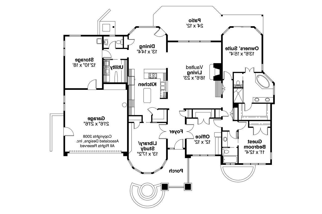 Prairie style house plans elmhurst 30 452 associated for Prairie floor plans