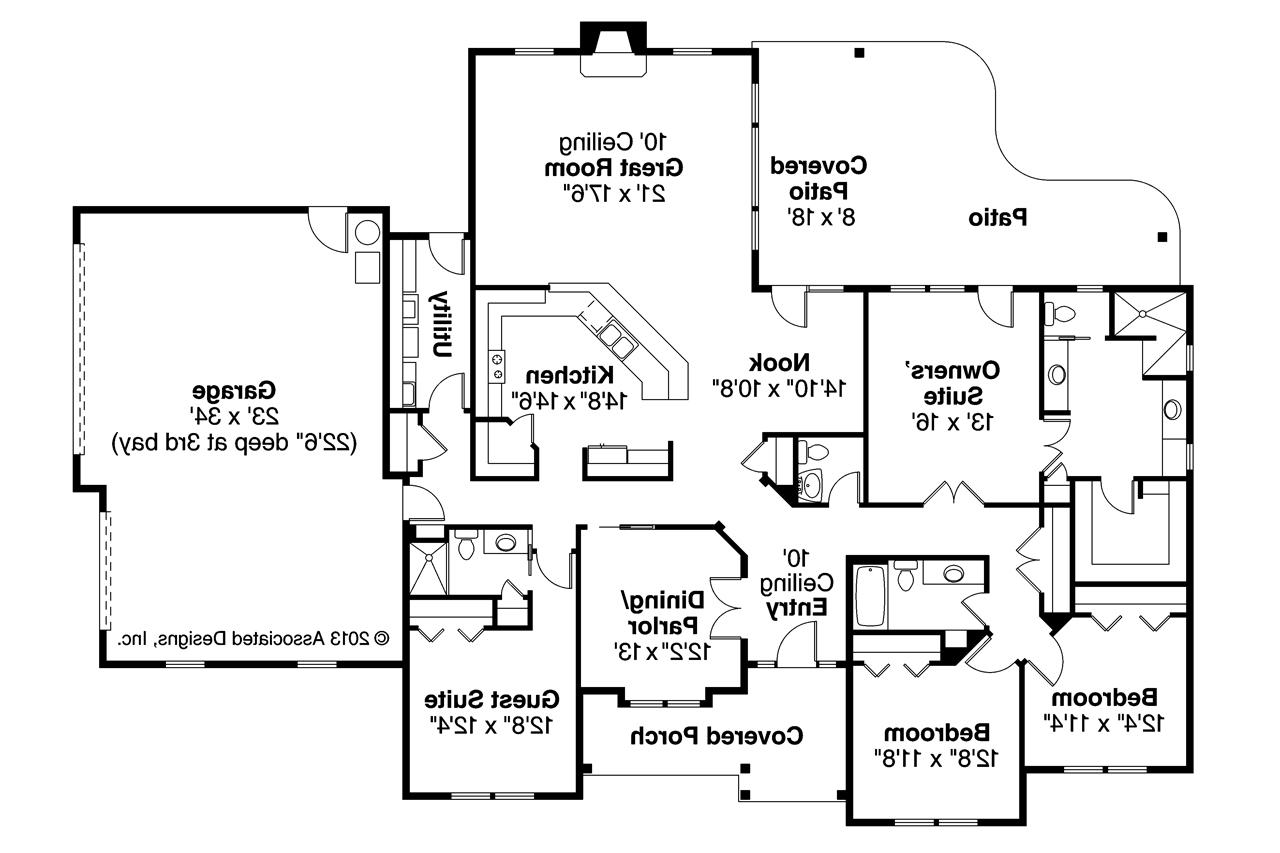Prairie style house plans fall creek 30 755 associated for Home plans floor plans