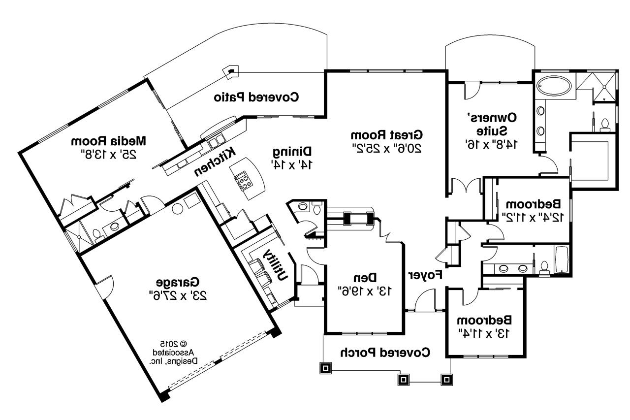 Prairie style house plans laurelhurst 30 994 for Prairie style floor plans