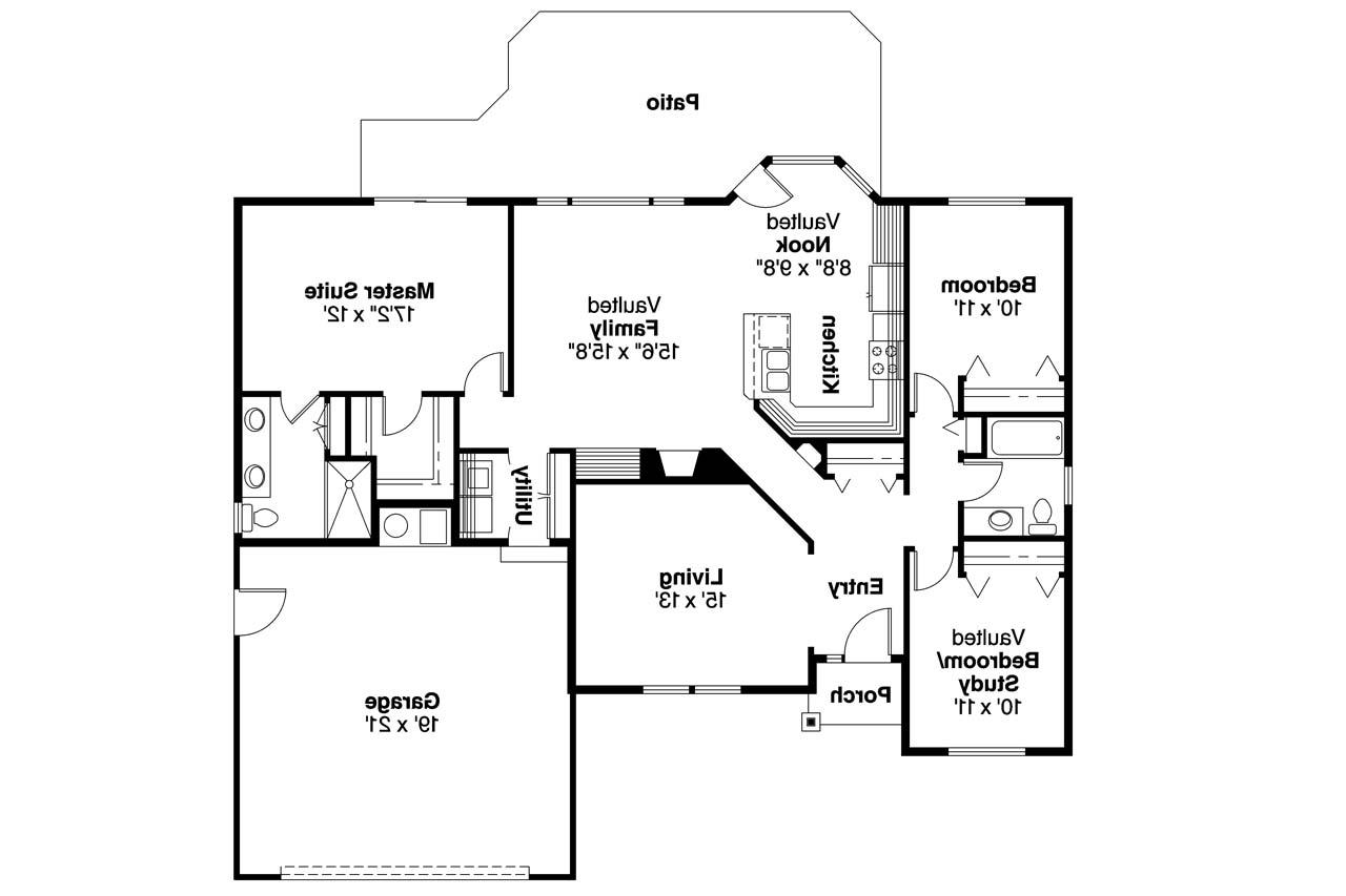 Ranch house plans bingsly 30 532 associated designs Floor planes