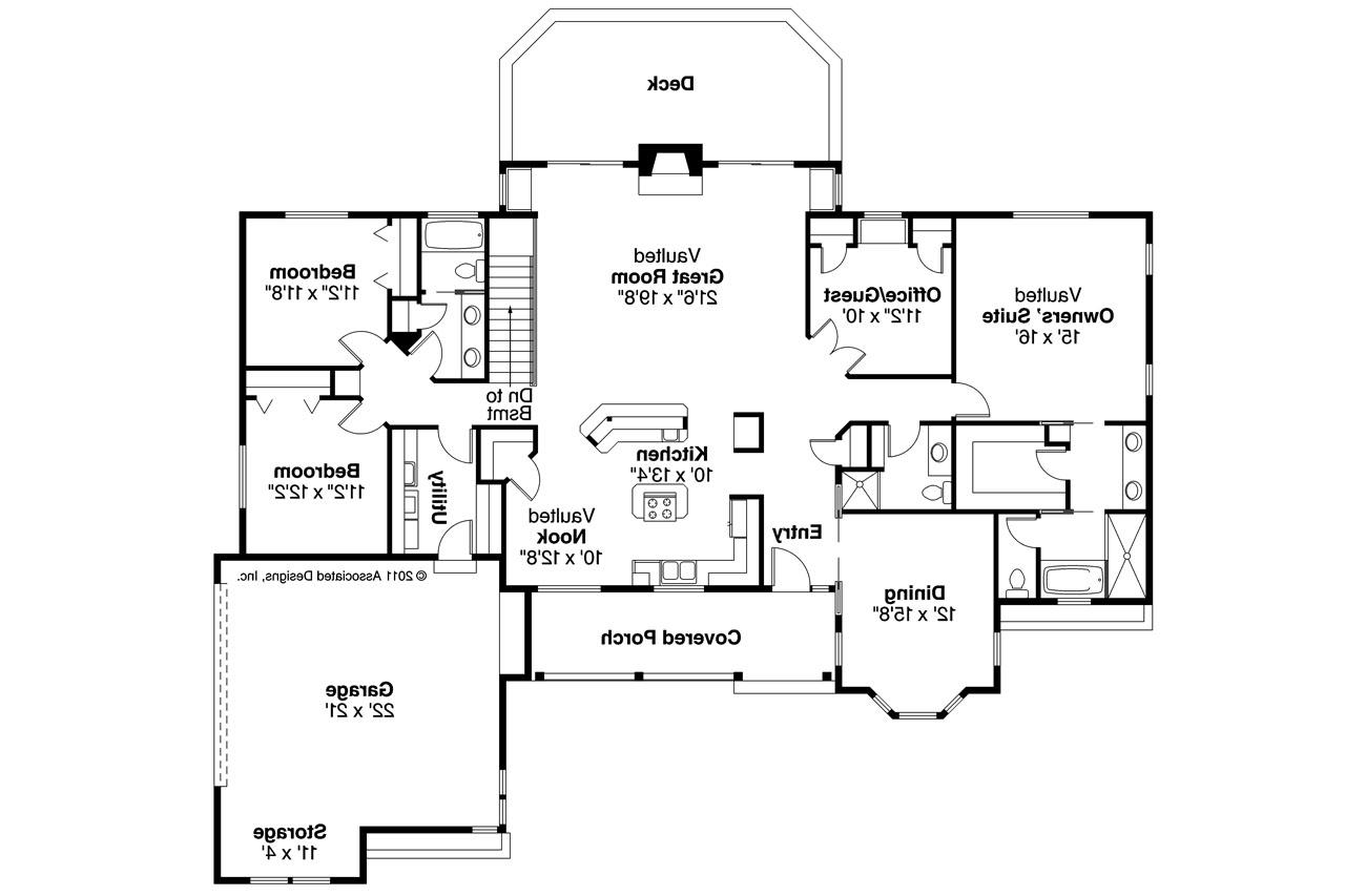 Ranch House Plan  Burlington 10255  Floor Plan