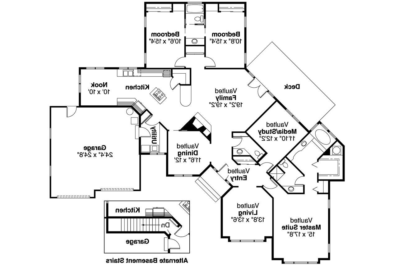 Ranch House Plans - Camrose 10-007 - Associated Designs