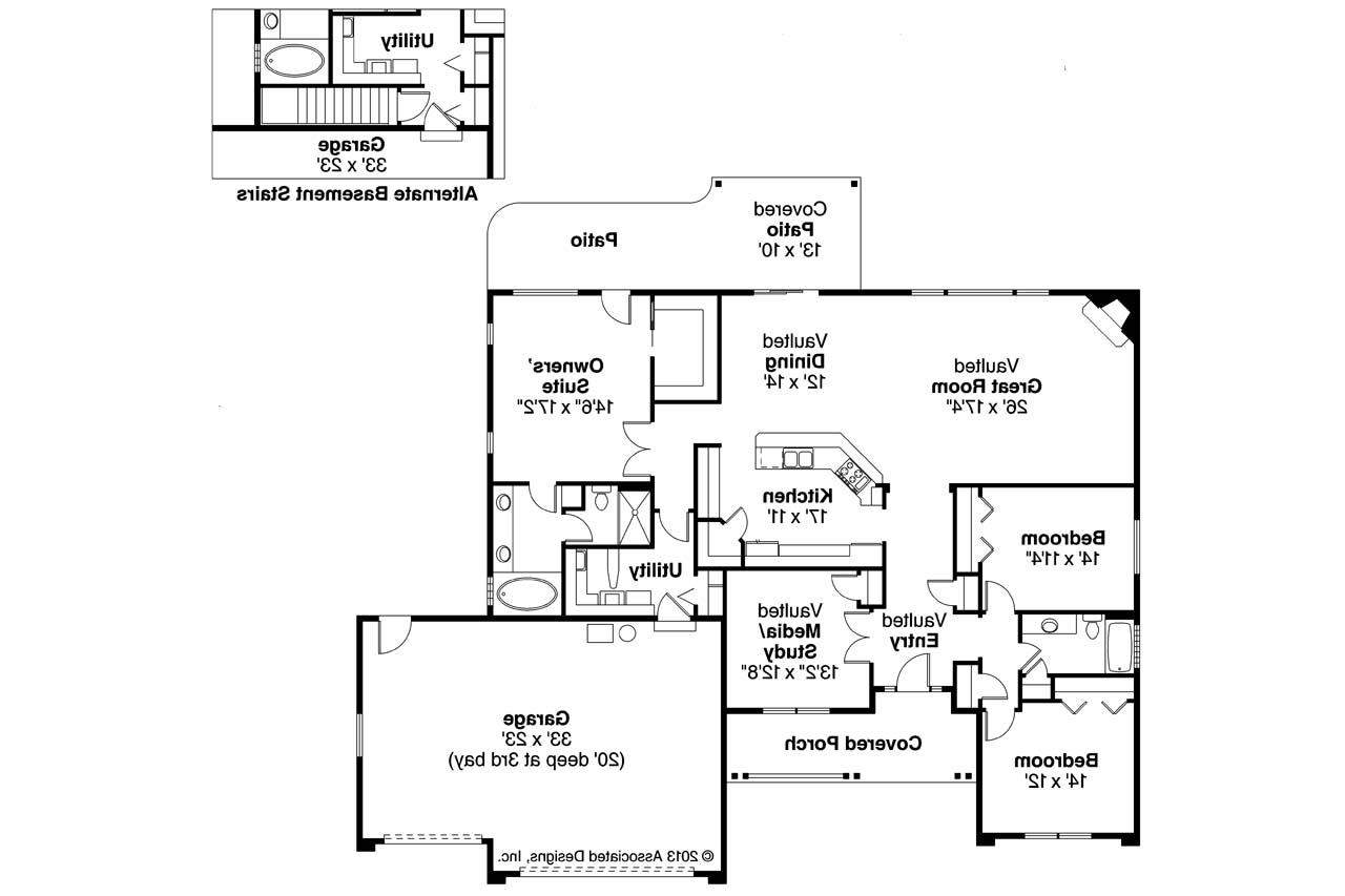 Ranch house plans fieldstone 30 607 associated designs for Ranch floor plans
