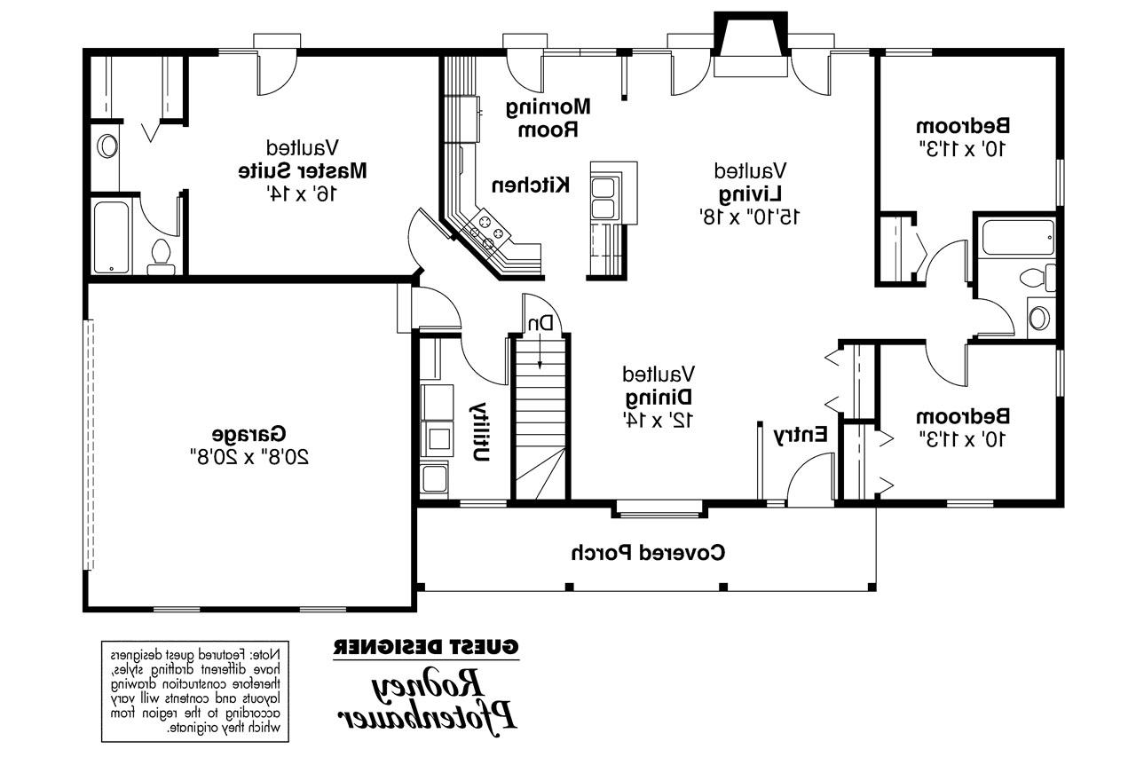 Ranch house plans glenwood 42 015 associated designs Floor plans for houses