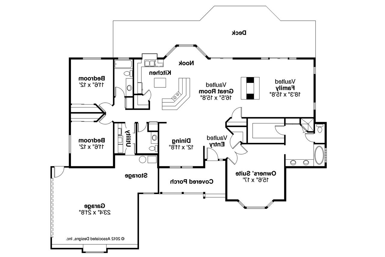 One level duplex house plans corner lot duplex plans Ranch house floor plan