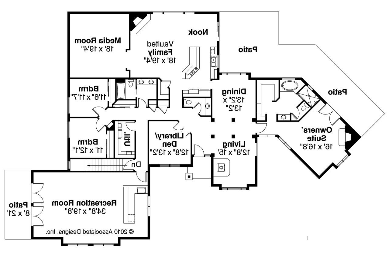 Ranch House Plans   Hillcrest     Associated Designs    Ranch House Plan   Hillcrest     Floor Plan
