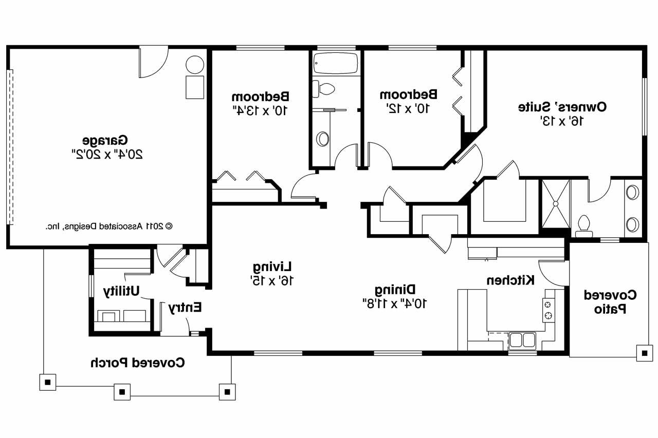 Rectangle shaped house plans escortsea Ranch house floor plan