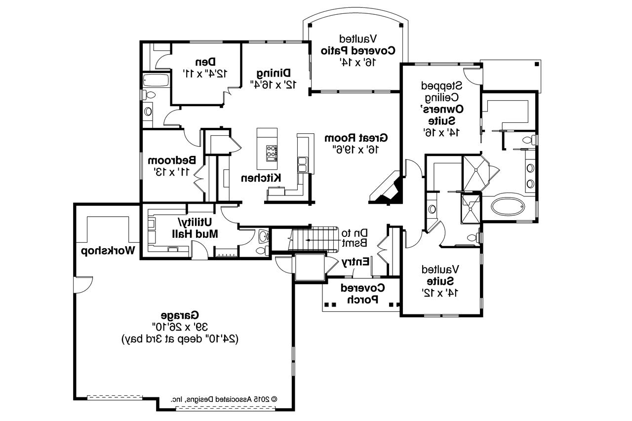Expanded Ranch Floor Plan Of Ranch House Plans Little Creek 30 878 Associated Designs