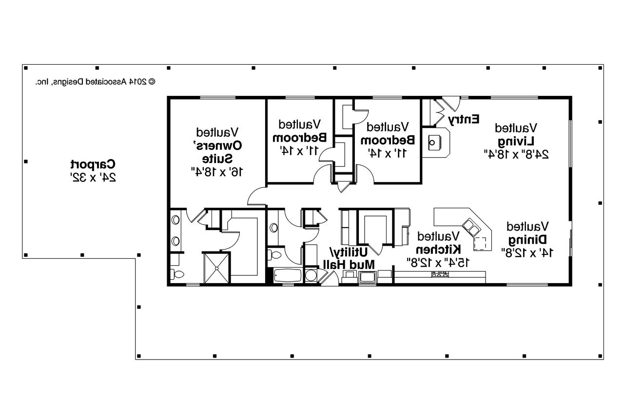 Ranch House Plans - Madrone 30-749 - Associated Designs