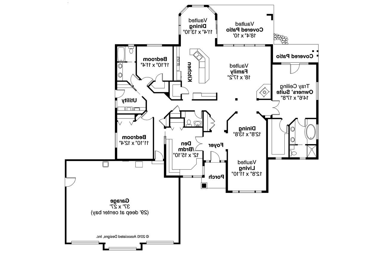 ranch house plan meadow lake 30 767 floor plan - Lake House Plans