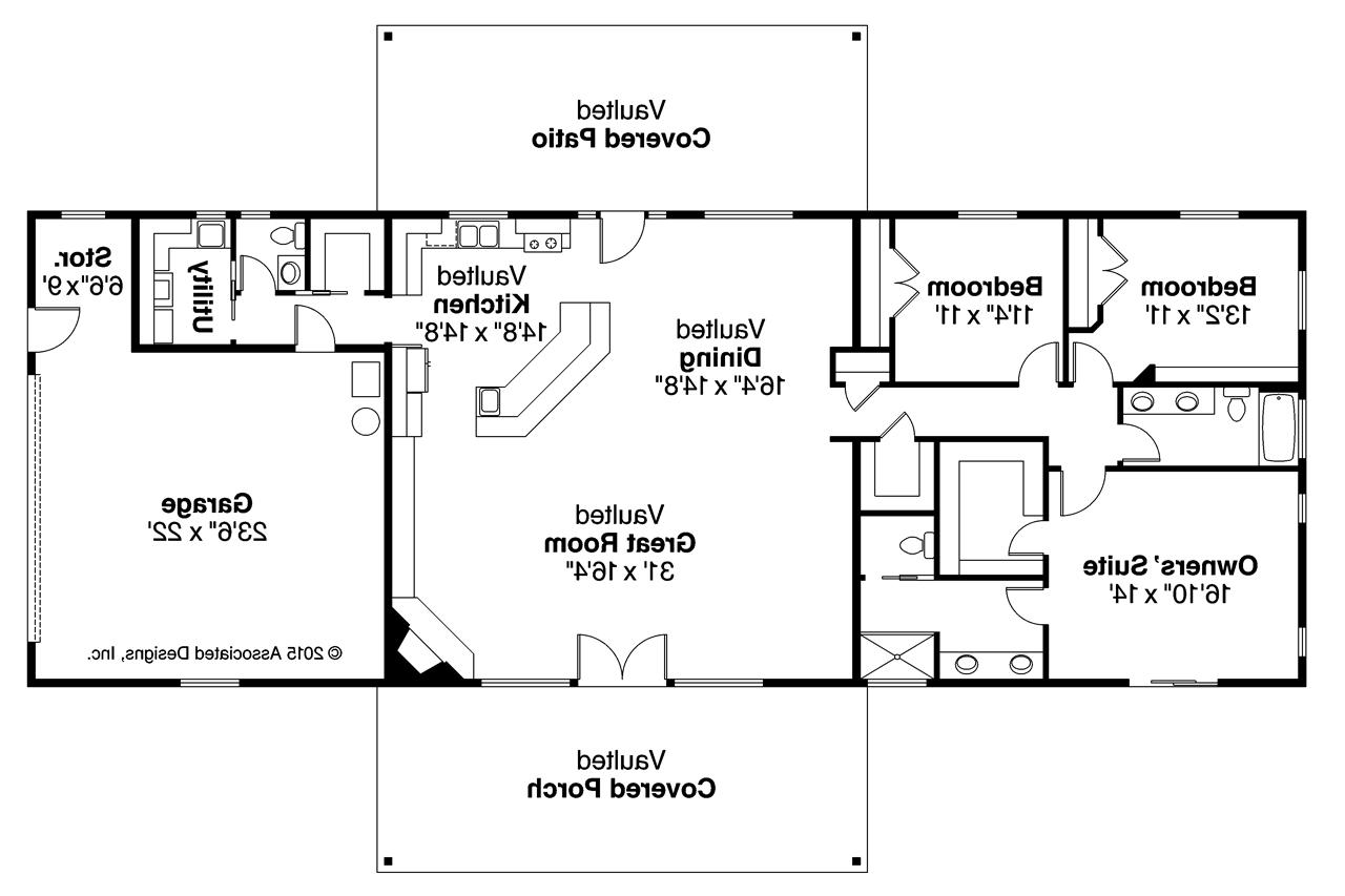 Ranch Floor Plans With Walkout Basement Ranch House Plans Ottawa 30 601 Associated Designs