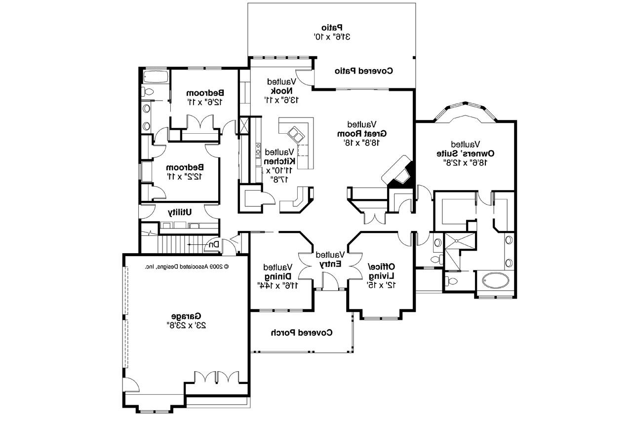 Ranch house plans rainier 10 303 associated designs for Expanded ranch floor plan