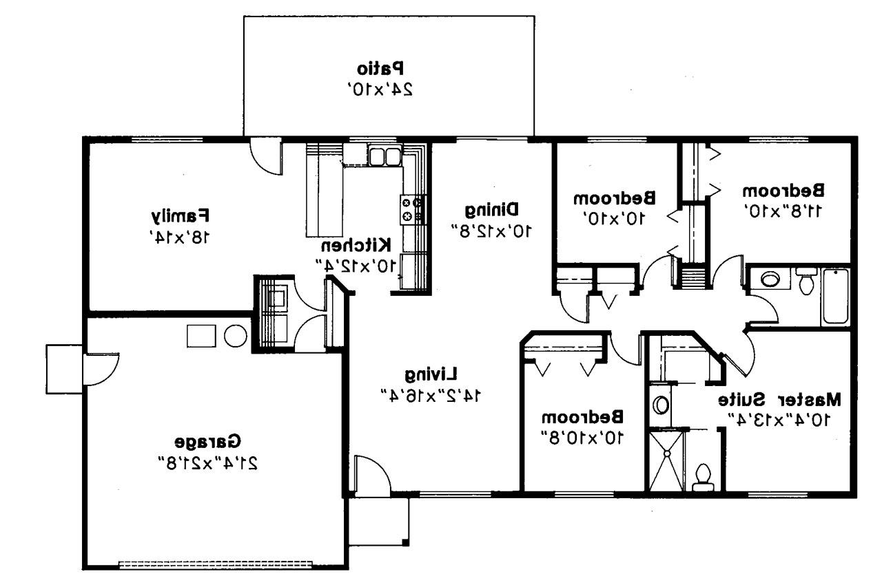 Clutter family house floor plan for Ranch house blueprints