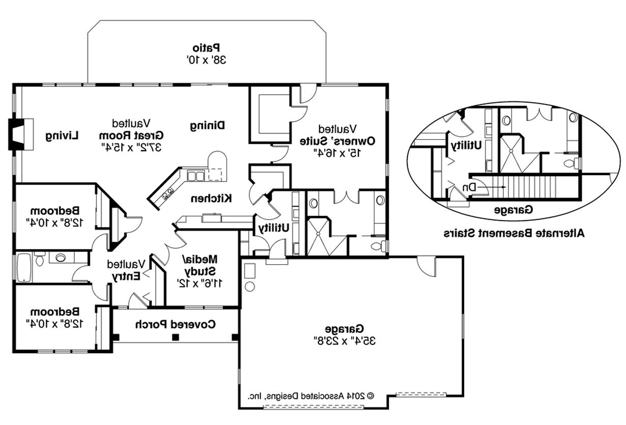 Southwest house plans northrop 30 096 associated designs for Southwest home floor plans