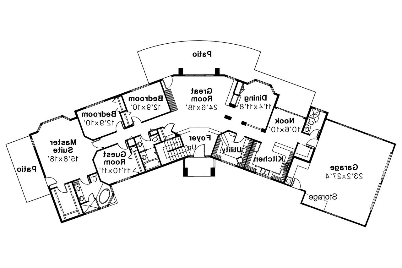 Southwest house plans estefan 30 125 associated designs for Southwest home floor plans