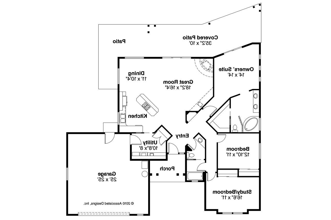 Southwest house plans mesa verde 11 126 associated designs for Southwest home floor plans