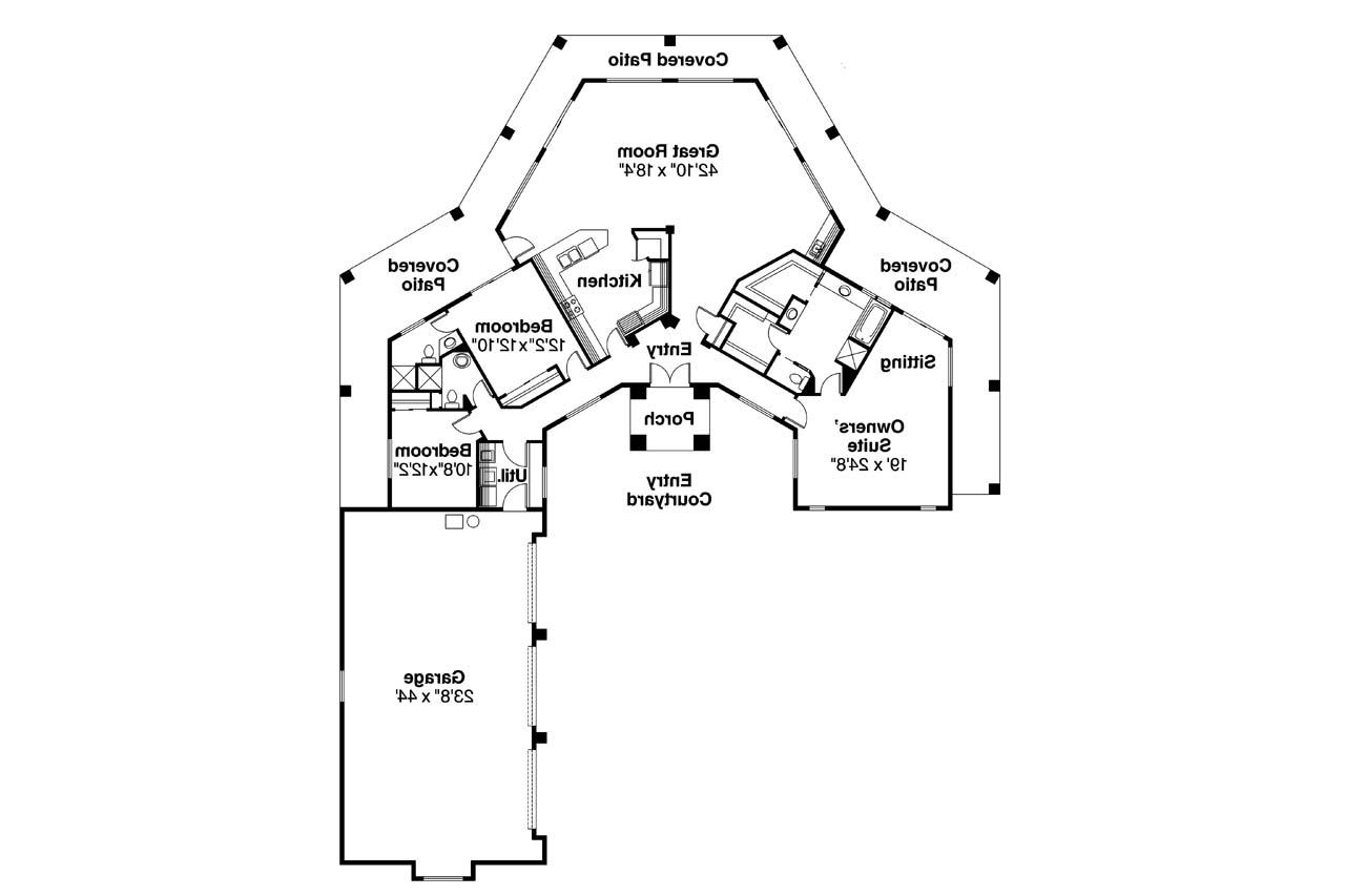 Southwest house plans santa fe 11 127 associated designs for Southwest homes floor plans