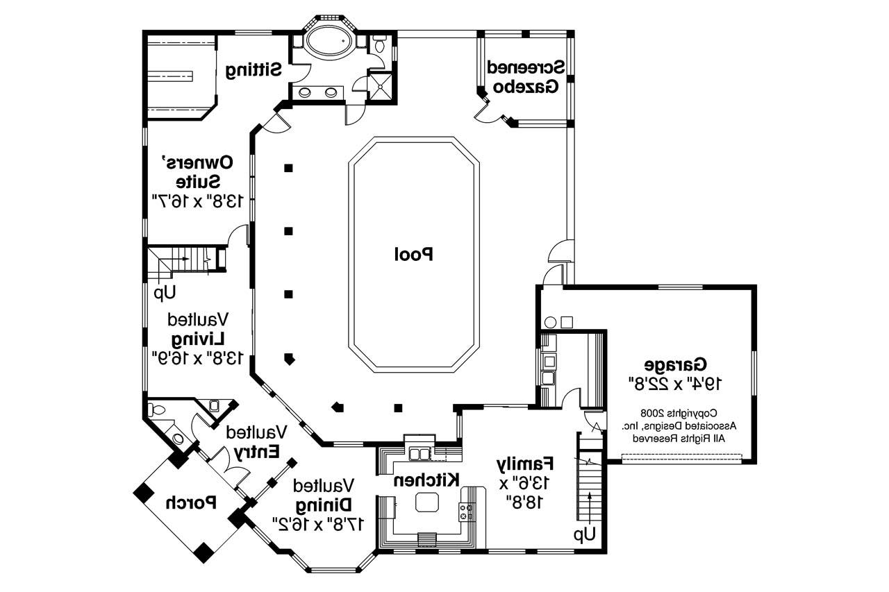Split bedroom house plans one floor for Savannah style house plans