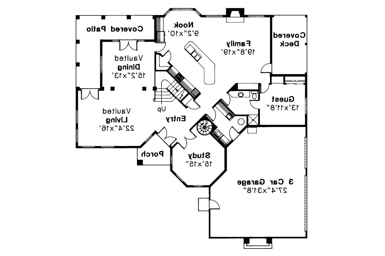 Spanish style house plans stanfield 11 084 associated for Spanish style home floor plans