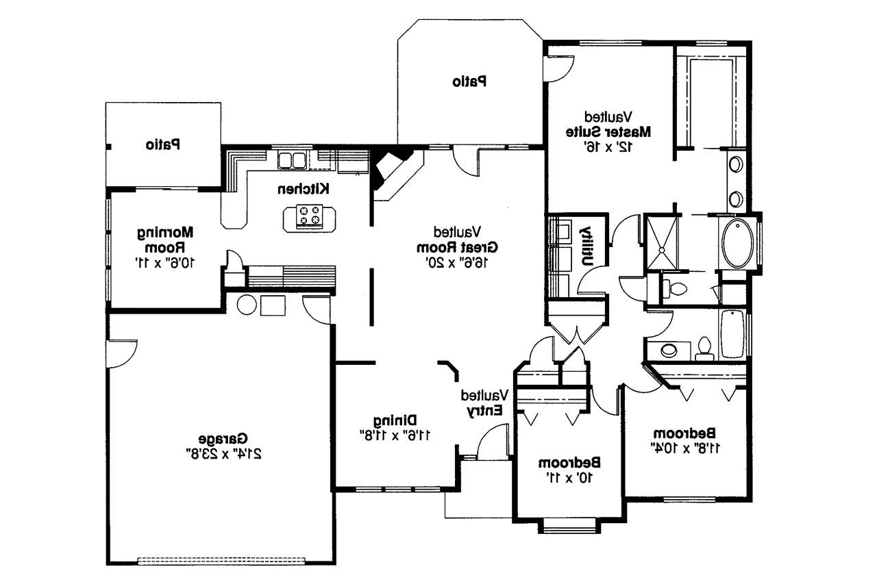 Traditional House Plans Cottonwood 30 151 Associated