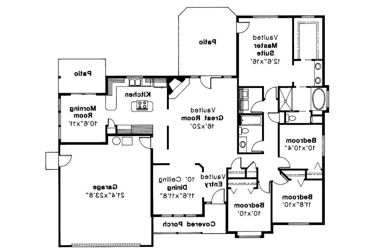 Traditional house plans midland 30 052 associated designs for Traditional house floor plans