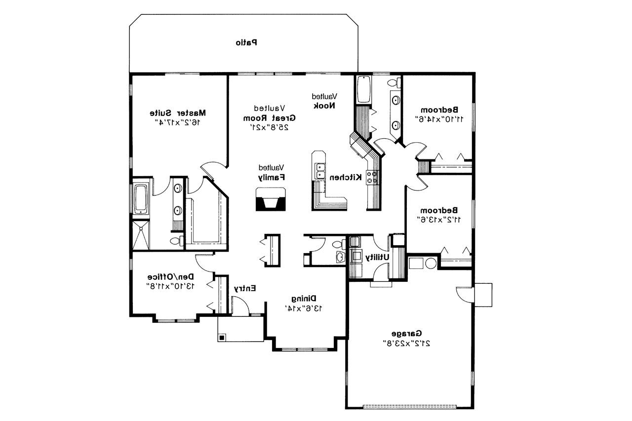 100 Traditional House Floor Plans L Shaped House