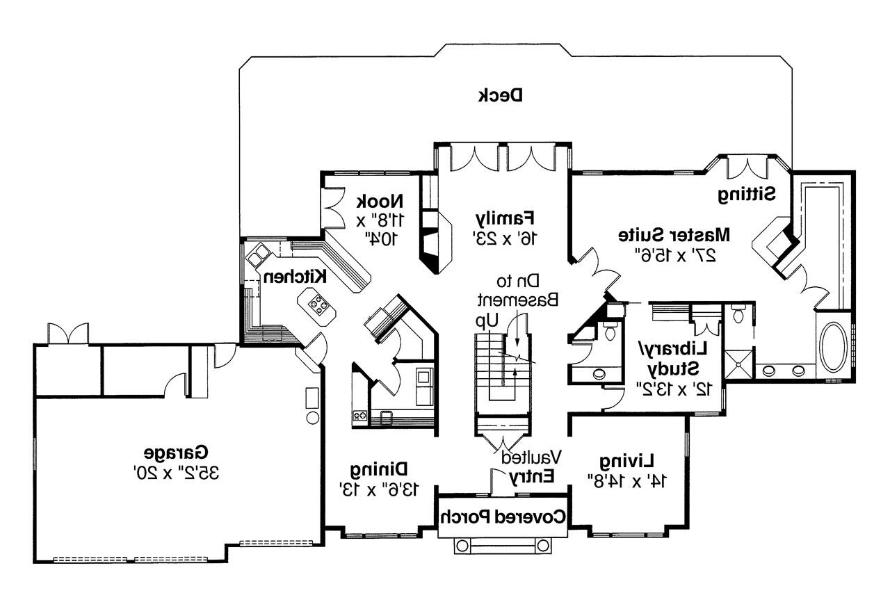 ... Tudor House Plan   Heritage 10 044   1st Floor Plan