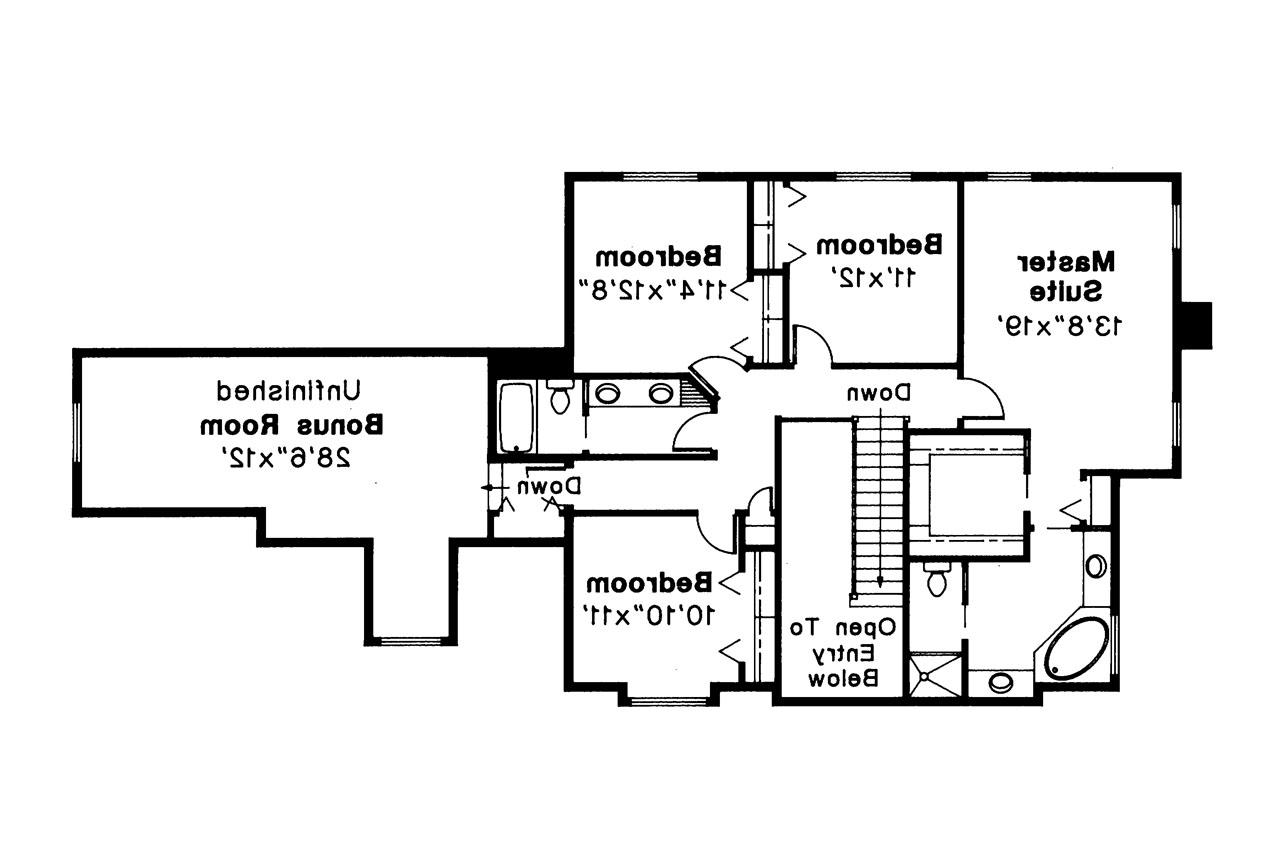 ... Tudor House Plan   Livingston 30 046   2nd Floor Plan