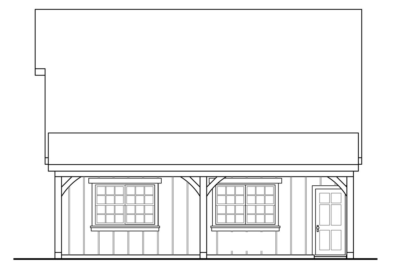 Craftsman House Plans 2 Car Garage W Attic 20 100