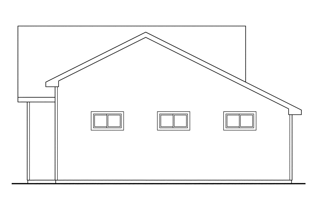 Traditional house plans garage w living 20 022 for 2 story workshop plans