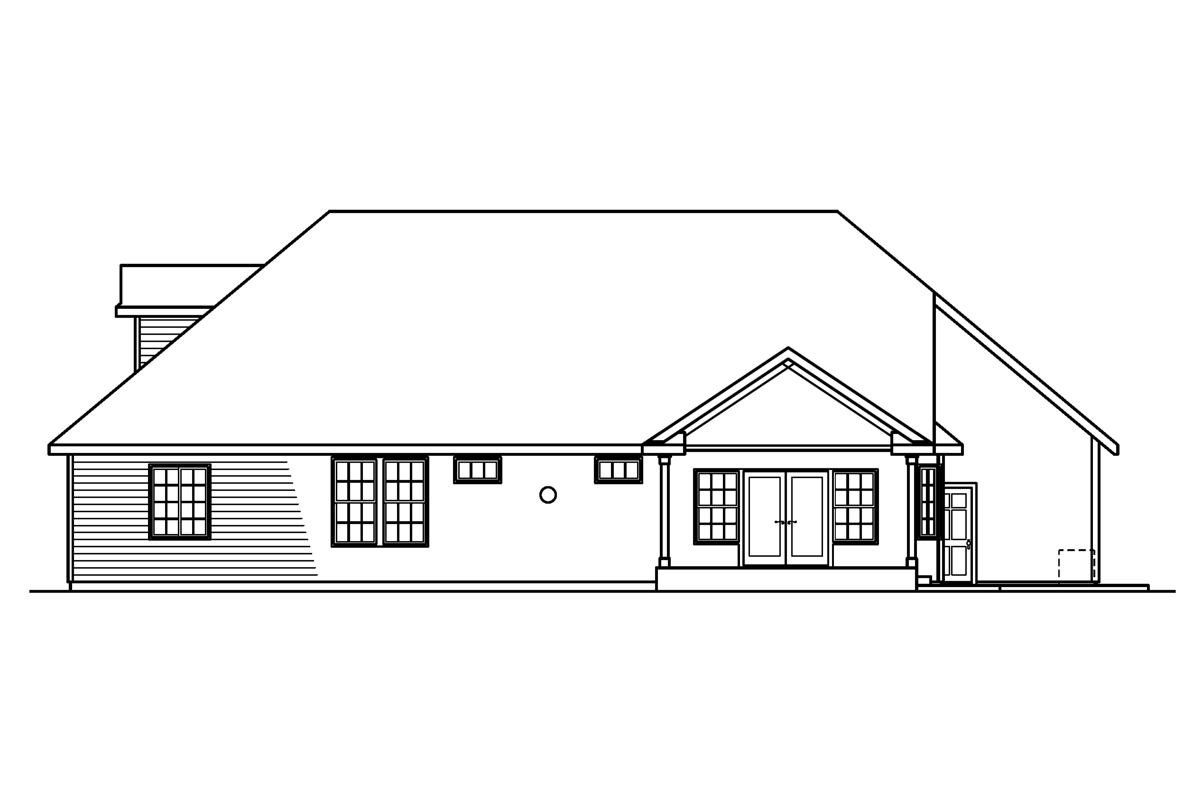 Classic Front Elevation Of House : Classic house plans remmington associated designs