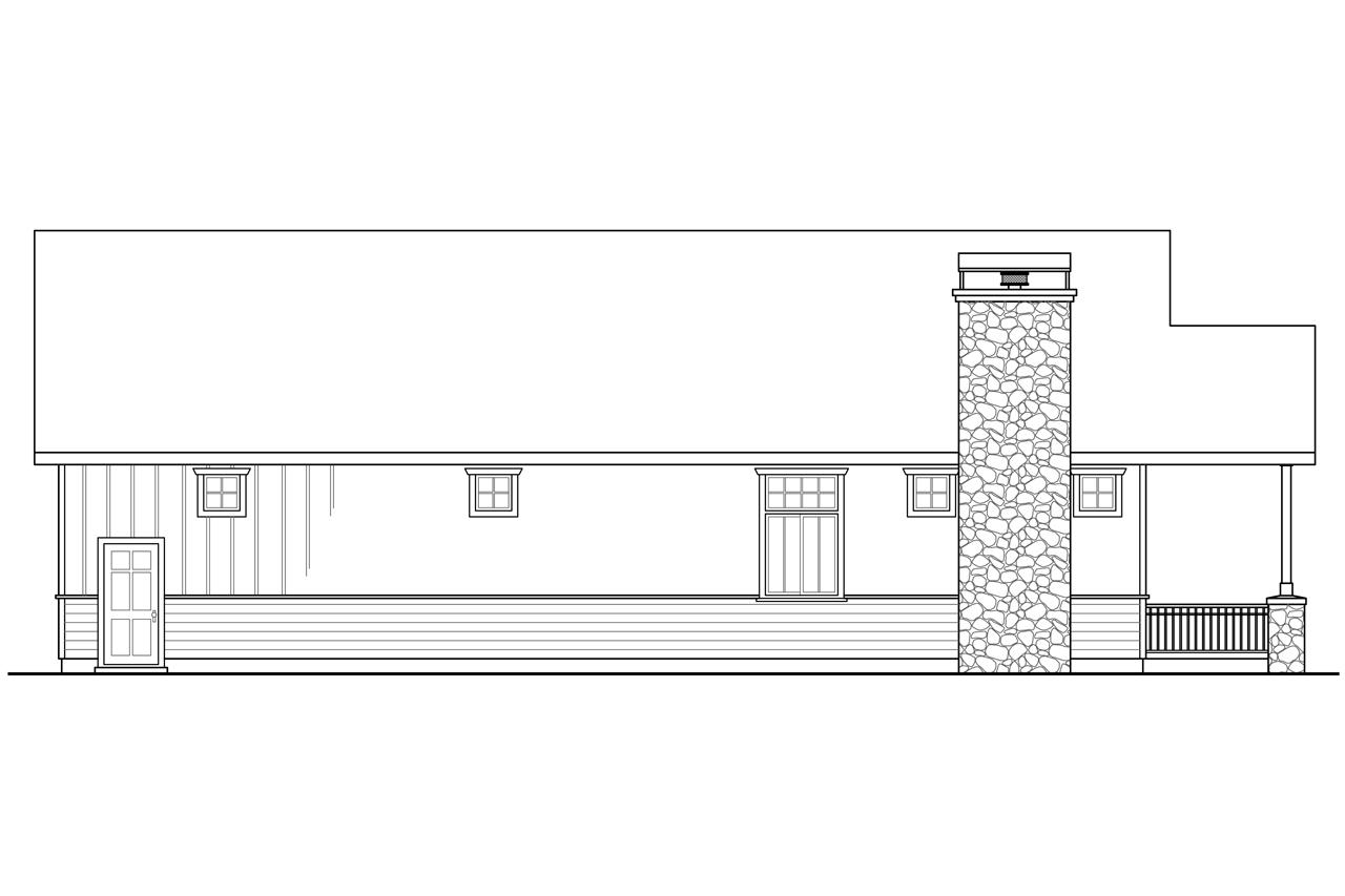 Elevation Plan Coupe : Cottage house plans garage w living associated