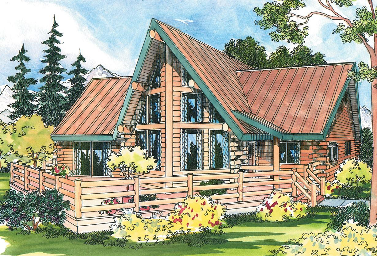 Altamont 30 012 a frame house plans log home for A frame house plans with attached garage