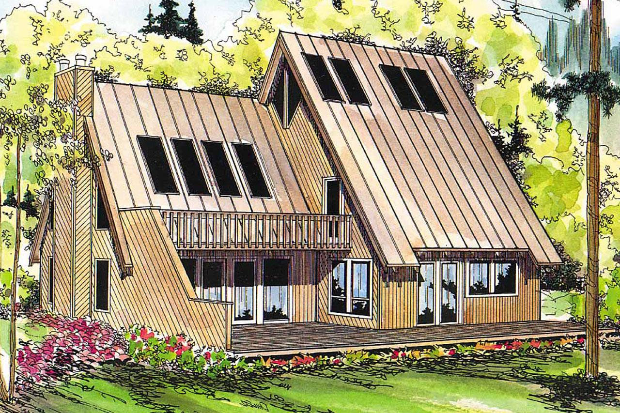 ... A Frame House Plan   Cascade 10 034   Front Elevation