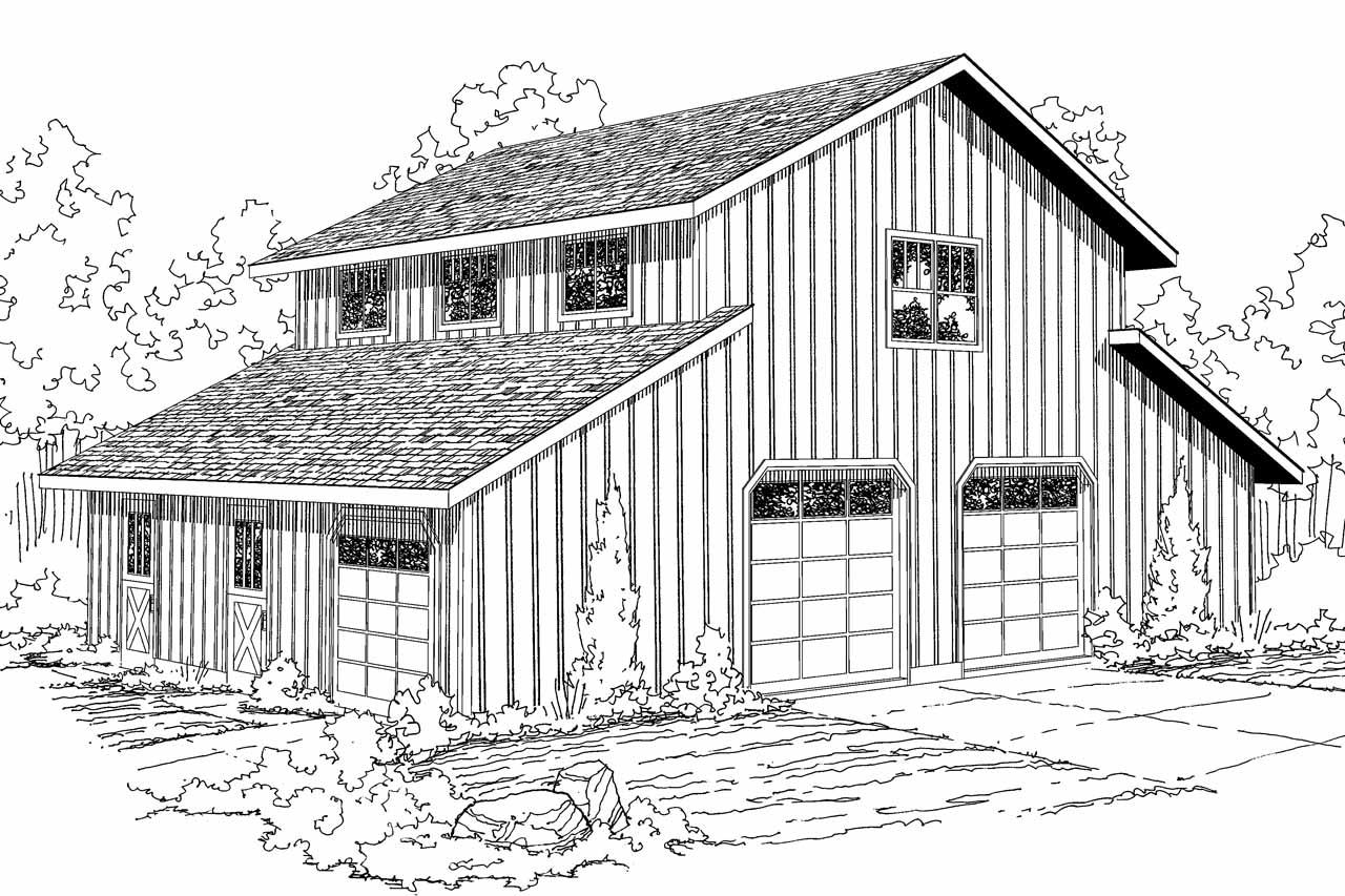 Country house plans barn 20 059 associated designs for Country barn home plans