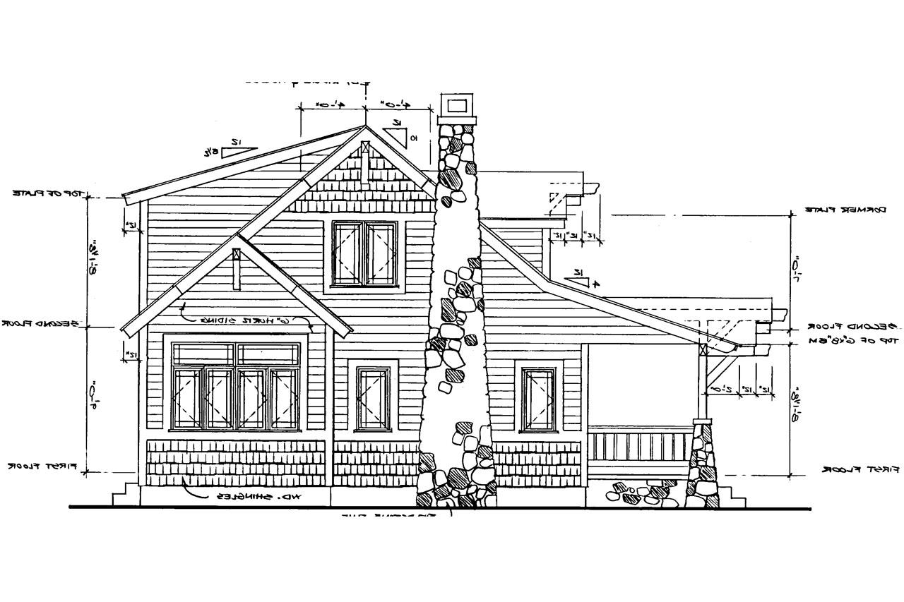 Craftsman house plans absecon 41 011 associated designs for Craftsman home elevations