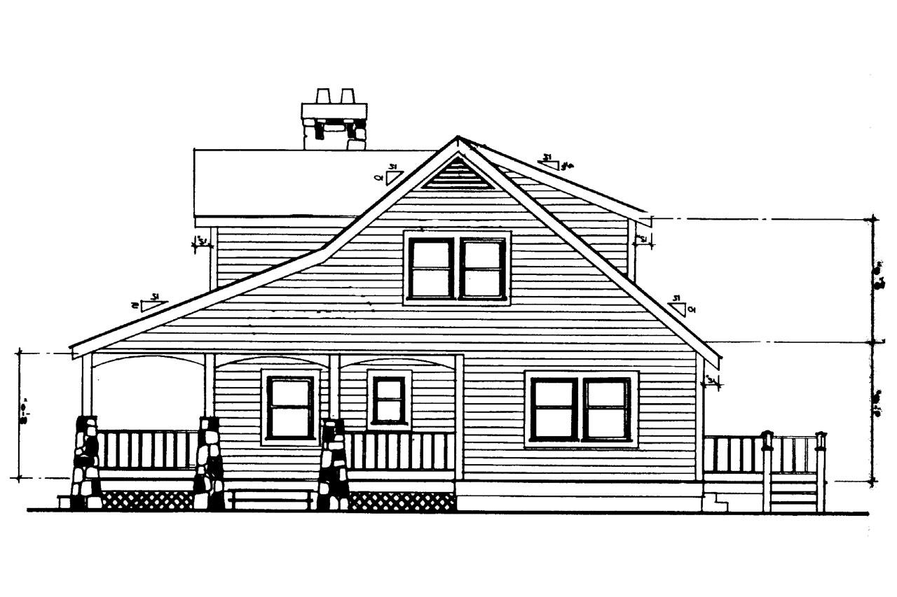 Bungalow House Front Elevation : Craftsman house plans altadena associated designs