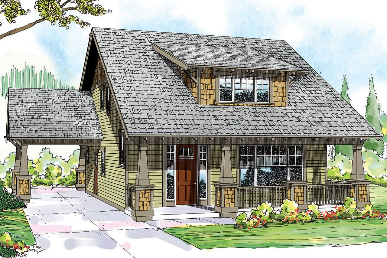 Front Elevation Of A Bungalow : Bungalow house plans greenwood associated designs